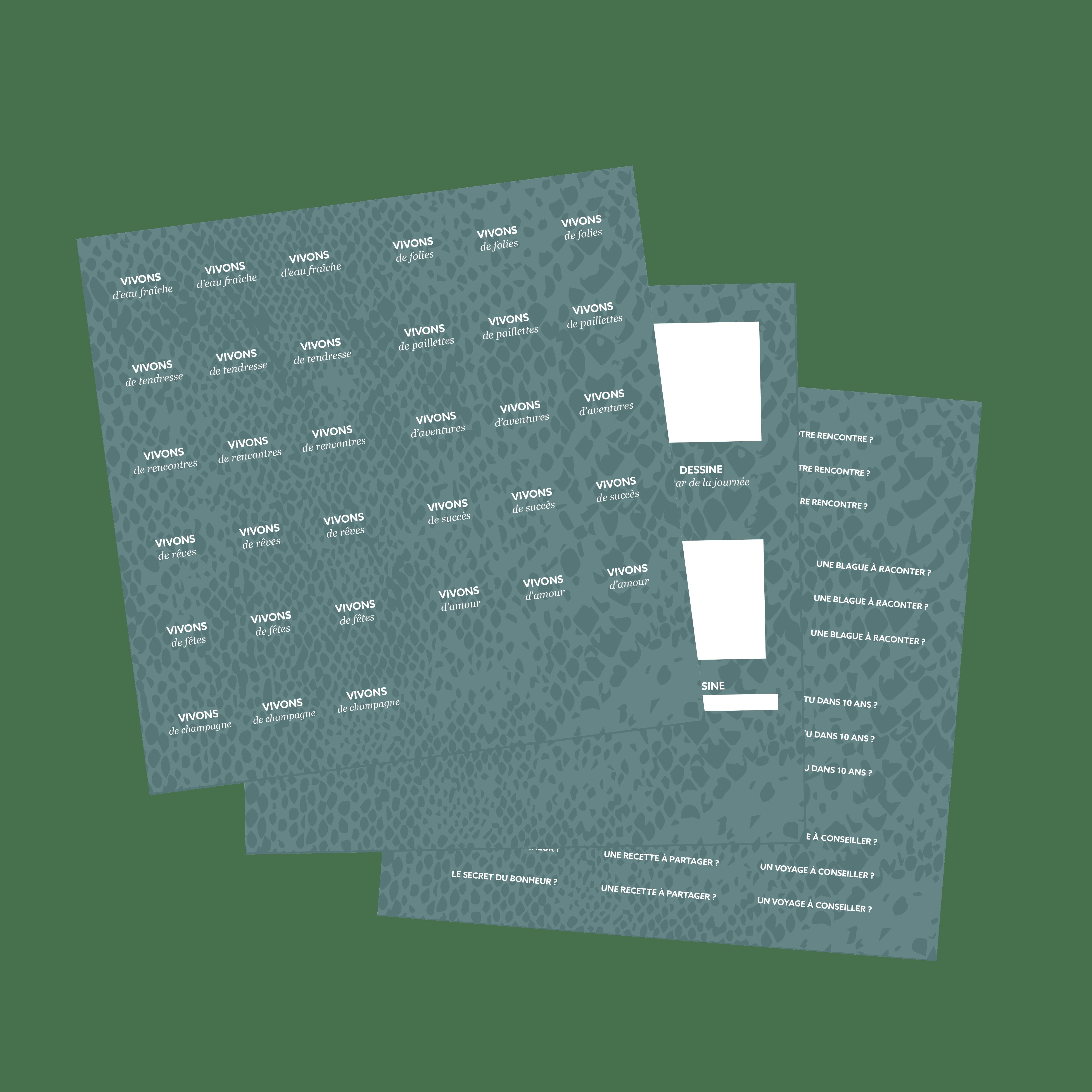 Stickers Plan De Travail recharges stickers du livre d'or